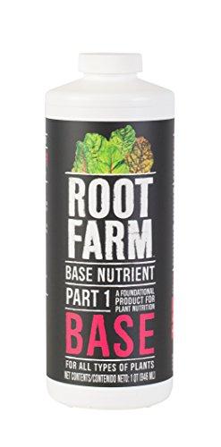 Root Farm 32oz Base Liquid Nutrient for Hydroponic Plants, 32 oz