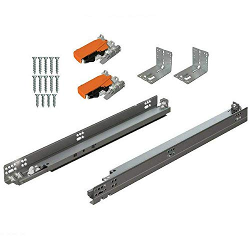 Bundle - BLUM Tandem Set Drawer Slides Plus Blumotion Complete Kit. with Runners 563H, Locking Devices, Rear mounting Brackets and Screws (for face Frame or Frameless Application) 21