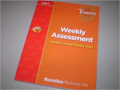 Weekly Assessment Treasures Grade 3 Macmillan