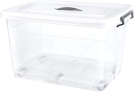 LYNN Caja de Almacenaje Multifuncional el Plastico Transparente ...