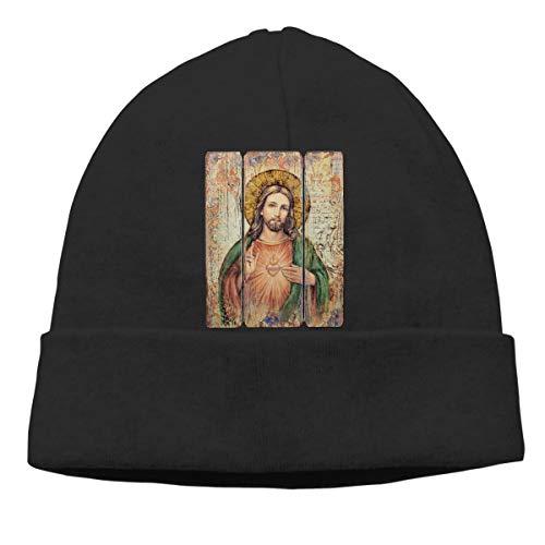 (Sacred Heart Vintage Mens Beanie Cap Skull Cap Winter Warm Knitting Hats.)