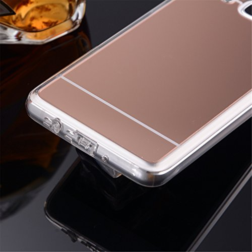 LXHGrowH Funda Samsung Galaxy J5 2016, [Ultra Delgada] Carcasa con espejo para Samsung Galaxy J5 2016 J510FN Cover silicona tpu protectora Rosado