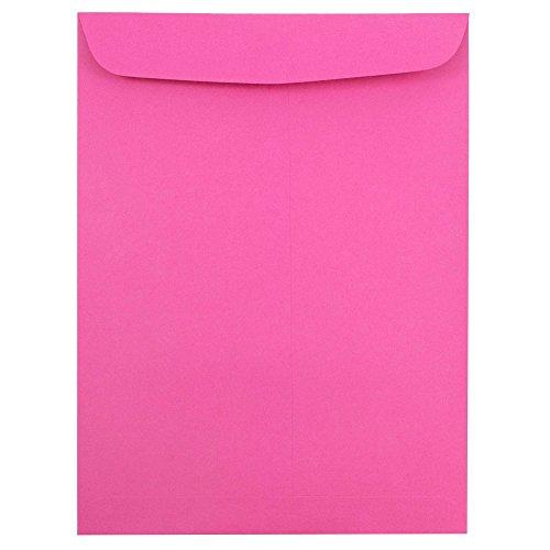 "JAM Paper 9"" x 12"" Open End Catalog Envelopes - Magenta - 10/pack"