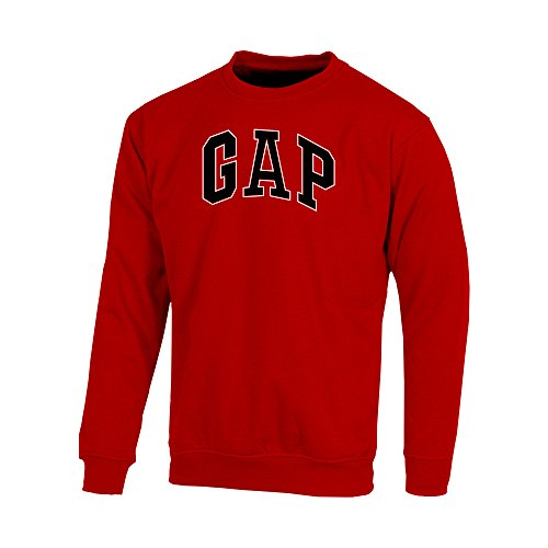 Gap Men's Fleece Sweatshirt Arch Logo (Red, X-Large)