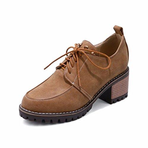 Zapatos de Tacón/En Otoño, de Gran Tamaño, Solo Zapatos, Zapatos de Tacón Grueso Yellow
