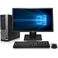 ReCircuit Optiplex 9010 Desktop PC - Intel Core i7 3.8GHz, 16GB DDR3, New 1TB Hard Drive, Windows 10 Pro 64-Bit, WiFi, USB 3.0, DVD, 2x Display Port + New 24 LCD Monitor (Prepared by ReCircuit)