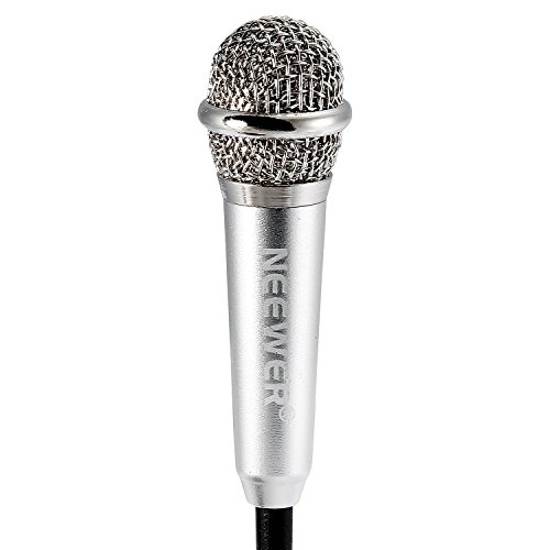 3.5mm Condenser Sound Podcast Studio Microphone For Laptop Silver - 7