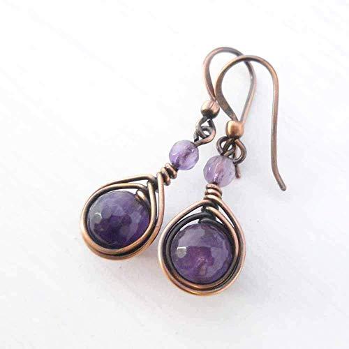 Earrings with Amethyst gemstone ()