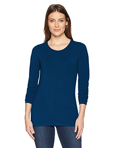 Amazon Essentials Women's Classic-Fit Long-Sleeve T-Shirt, Dark Teal, Large