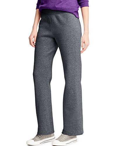 Hanes Women's Petite-Length Middle Rise Sweatpants - Large - Slate Heather