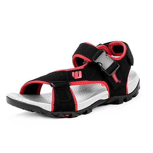 Sandals MAZHONG Men's Men's Summer Breathable Casual Sports Men's Beach Shoes (Color : Red-EU39/UK6/CN39) Red-eu39/Uk6/Cn39