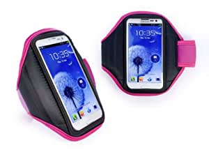 Tuff-Luv Fast Forward funda con Brazalete para Samsung S2 S3 S4, Apple iPhone, HTC one S/V/X, Nokia Lumia, Sony Xperia - rosa