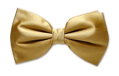 BOWTIE SILK Solid GOLD Color Men's Bow Tie Tuxedo Ties BowTies
