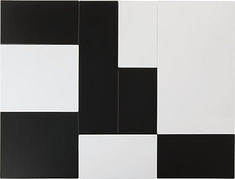Aps GN 2/4 – Zero – Bandeja de melamina, Negro, 53 x