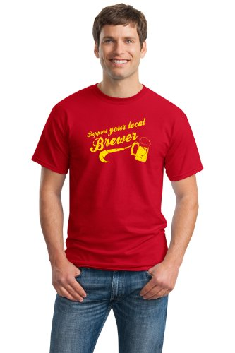 SUPPORT YOUR LOCAL BREWER Unisex T-shirt / Microbrew, Craft Beer Lover Tee