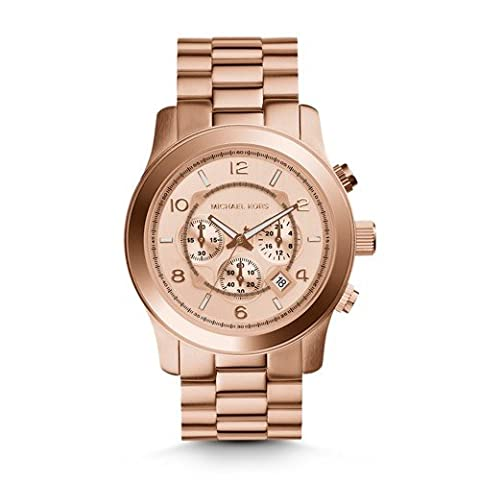 Michael Kors Men's Runway Rose Gold-Tone Watch MK8096 (Watches Michael Kors In Clearance)