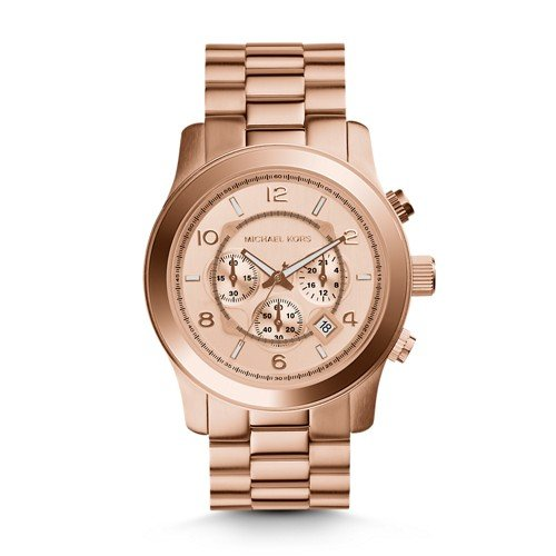 Michael Kors Men's Runway Rose Gold-Tone Watch - Oversized Michael Kors