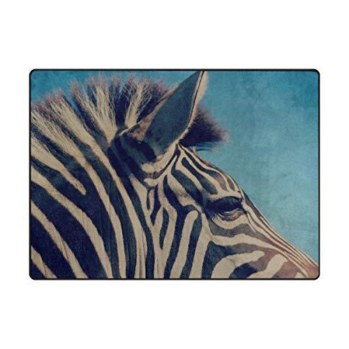 Rh Studio Carpet Zebra Head Band Rugs for Living Room Bedroom 63x48 Inch ()