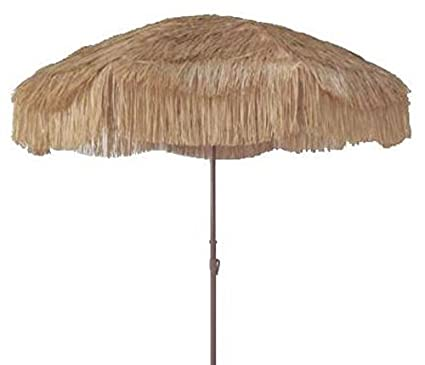 Incroyable Beach Umbrella Patio Pool Umbrella Thatched Tiki Hawaiian Canopy Impact  Beige
