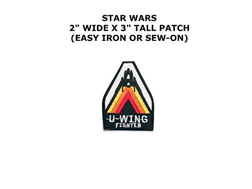 [Star Wars U-Wing Fighter Sci-Fi Embroidered Iron/Sew-on Comics Cartoon Theme Logo Patch/Applique] (Easy Male Villain Costumes)