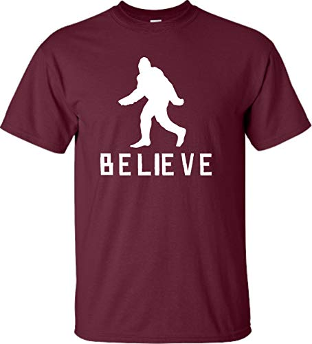 Go All Out XXXXX-Large Maroon Adult Bigfoot Believe Sasquatch Squatch T-Shirt