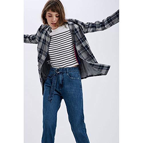 Calca Com Cinto Fivela Meia Lua Jeans - 42