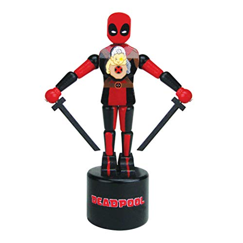 Entertainment Earth Deadpool and Cable Wooden Push Puppet - Convention Exclusive
