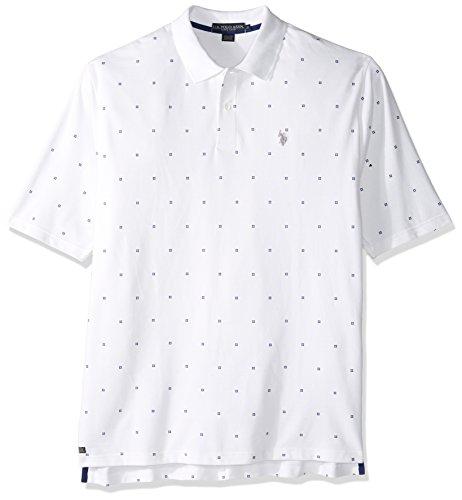 U.S. Polo Assn. Mens Big & Tall Printed Short Sleeve Classic Fit Pique Shirt
