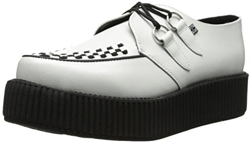 TUK Sneaker Unisex Adulto Round Mondo Bianco Creeper Sole vSxwrvRqF