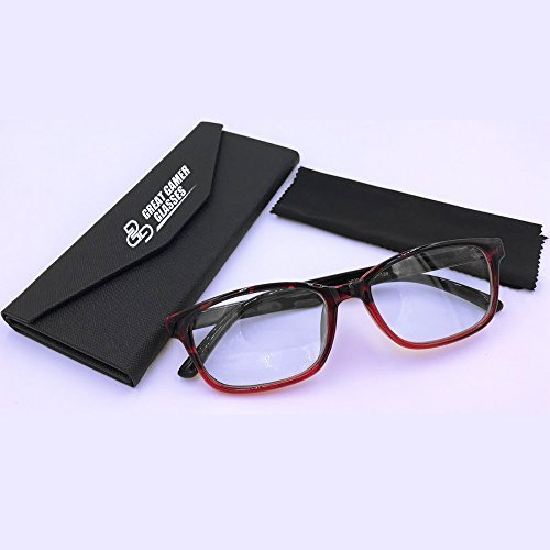 computer-readers-gaming-glasses-for-kids-adults-small-red-frame-clear-lens