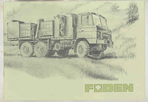 1975 Foden FH70 Gun Tractor Cargo Rolls Royce Military Truck Brochure ()