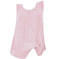 Twgone Sleeveless Shirts For Women Plus Size Cotton Linen Scoop Neck Tank Tops Baggy Vest Tee Xx Large Pink