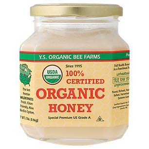 YS Organic Bee Farms Certified Organic Raw Honey 100% Unprocessed, Unpasteurized - Kosher 32oz 2 Lbs