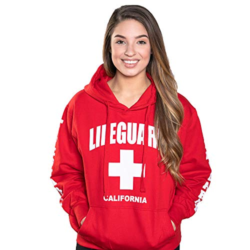 LIFEGUARD Officially Licensed Ladies California Hoodie Sweatshirt Apparel for Women, Teens and Girls (Small, Red)]()