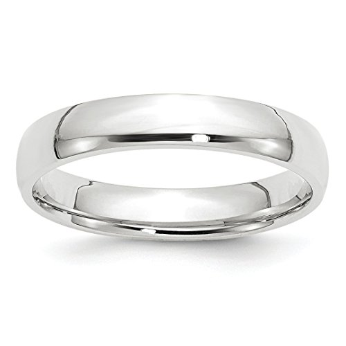 ICE CARATS 14kt White Gold 4mm Ltw Comfort Fit Wedding Ring Band Size 6 Classic Fine Jewelry Ideal Gifts For Women Gift Set From Heart 14kt Gold Comfort Fit Band