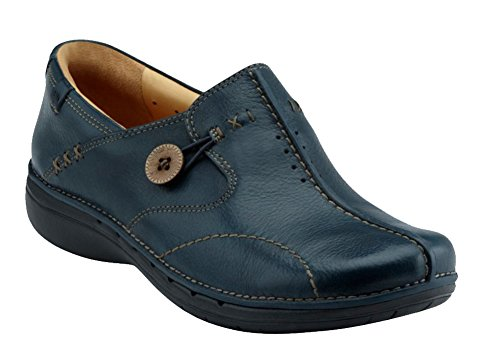 Clarks Unstructured Women's Un.Loop Slip-On,Navy,9.5 M US