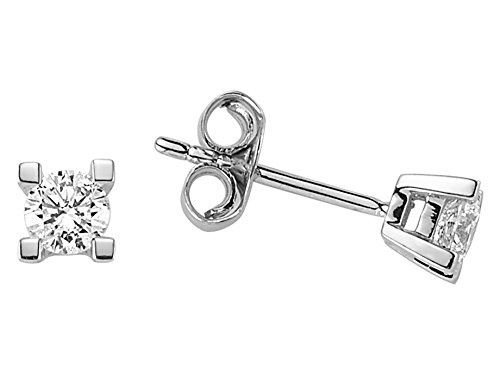 Boucles d'Oreilles Diamant Solitaire 0.40 Carat-Femme- or Blanc 223E0004