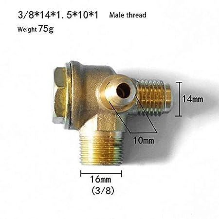 V/álvula de retenci/ón para compresor de aire v/álvula de retenci/ón de lat/ón herramienta de conector de tubo de v/álvula de 3 v/ías SENRISE