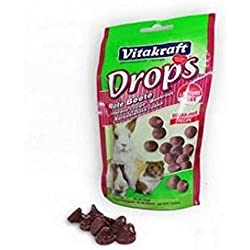 Vitakraft Drops Beetroot Small Animal Treat (75g) (Pack of 6)