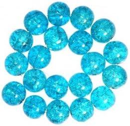 Import 50 x Perle en Verre Craquel/é 8mm Turquoise