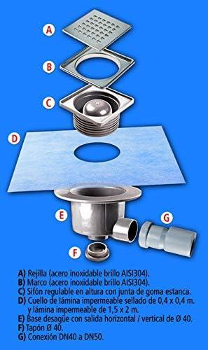 euroshrink kit Premium IB//R1/piletta Acciaio Inox luminosit/à