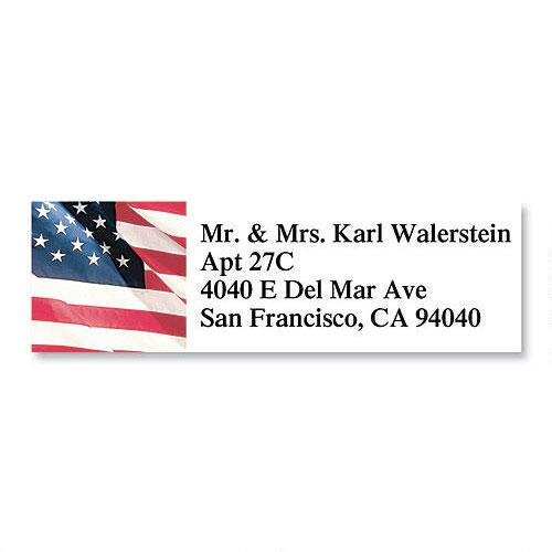 American Glory Patriotic Small Return Address Labels (4 Designs) - Set of 240, 2