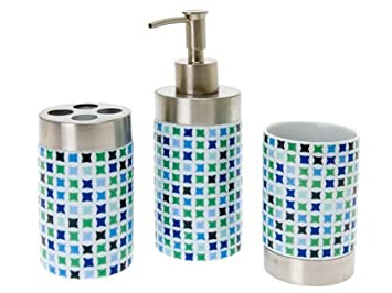 PT Bathroom Set Mosaic Porcelain Blue