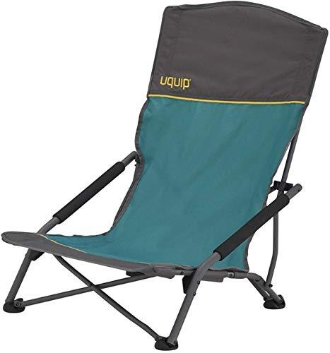 (Uquip Sandy XL Beach & Camp Stowaway Chair with High Back, Blue)