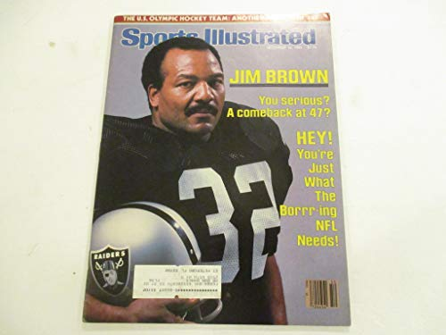 DECEMBER 12, 1983 SPORTS ILLUSTRATED *JIM BROWN* *YOU SERIOUS? A COMBACK AT 47?* MAGAZINE