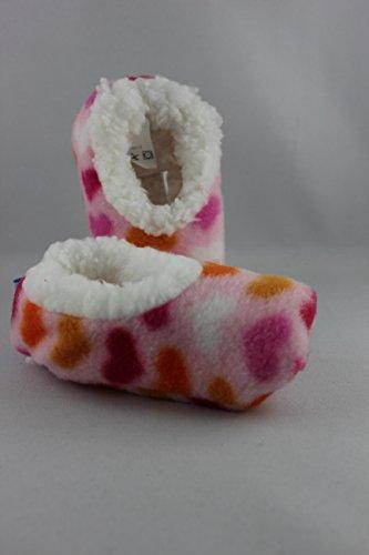 Kuschel-Hausschuhe Baby Snoozies Baby-Hausschuhe (M, Mini Hearts)