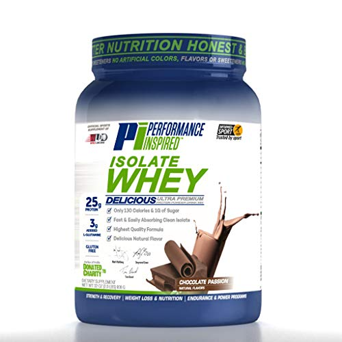 Performance Inspired Nutrition Isolate Whey, Chocolate Passion, 2 Lb, Style #: Isochoc (Difference Between Whey Protein Isolate And Concentrate)