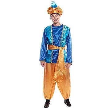 Partilandia Disfraz PAJE Azul para Hombre Navidad (M)