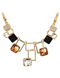 Women's Elegant Golden Plated Zircons Inlaid Magic Space Chain Necklace