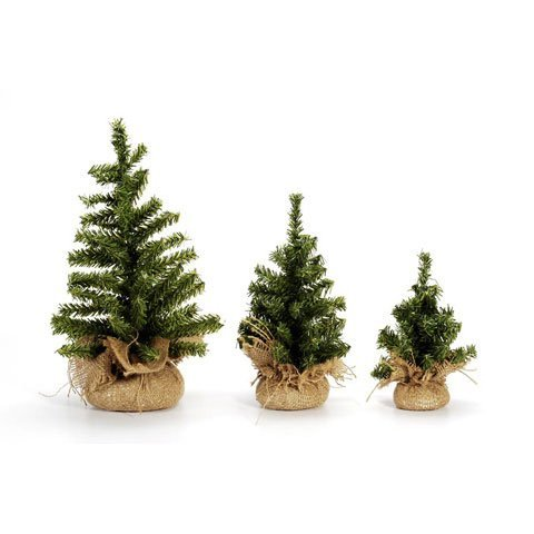 Darice Mini Christmas Tree with Burlap Base, Canadian 12